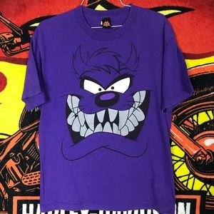 Taz Tasmanian Devil Looney Tunes Purple Large